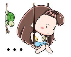 Cute Love Pictures, Cute Love Gif, Cartoon Gifs, Cute Cartoon, Pretty Gif, Little Girl Lost, Chibi Couple, Cat Comics, Animated Icons