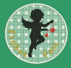 Stickdatei Stickmuster Weihnachten Engel Lace von lollikids auf DaWanda.com