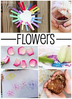 Fun learn and play activities to do with flowers, part of a 5 week backyard summer camp for kids.