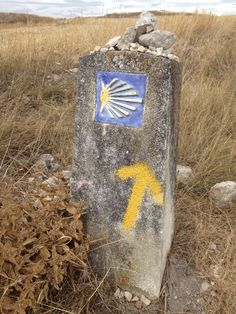 Sige la flecha! Follow the yellow arrows and even a blind horse cannot go wrong on the camino.