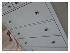 Recreated Designs: IKEA Recreated - A large IKEA dresser recreated with Annie Sloan's Chalk Paint in Duck Egg and stock hardware reused.  The stock hardware pops with the new colour and worked perfectly to keep it.