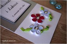 personalizowana kartka ślubna róż i biały