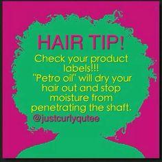 Hair tips- don't use petro oul http://amzn.to/2sO9SAT