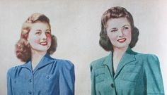 1942 hairstyles for shoulder length hair