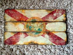 Florida State Flag Distressed Barn Wood Art by ShiveredTimbers