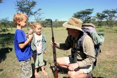 Kids walk amoung Africa's largest giants with our professional guides at Asilia Africa. Kids on safari in Kenya.