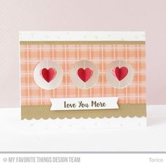 Blueprints 23 features the perfect little three-hole element for quickly creating a trio of peek-a-boo circles in your card front. @torico27 used them to showcase fluttering dimensional hearts suspended within each space - delightful! You'll find more Blueprints-inspired cards with lots and lots of circles on the blog today. #circularreasoning #blueprintschallenge #cardmaking