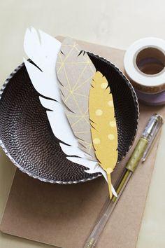Feather Tags - White.Yellow.Tan