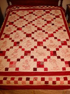2003 Group Redwork Quilt View 2 | Flickr - Photo Sharing!