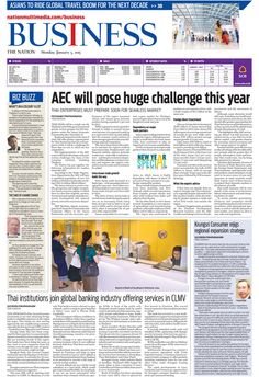AEC will pose huge challenge this year -- The Nation's Business Page, January 5, 2015 http://www.nationmultimedia.com/business/AEC-will-pose-huge-challenge-this-year-30251180.html