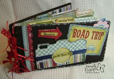 Scrapbook Mini Album Road Trip - kitsnbitscraps. Tags...