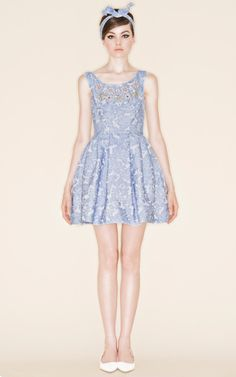 Hollis Floris Dress by Vivetta for Preorder on Moda Operandi