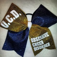 O.C.D. CHEER bow by blingonthebowz on Etsy, $13.00