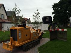 Our Bandit 2900T stump grinder hard at work in Crewe http://www.wainwrightstumpremoval.co.uk/contact-us/  Stump removal
