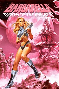 Barbarella is a 1968 French-Italian science fiction film based on Jean-Claude… Fiction Movies, Sci Fi Movies, Pulp Fiction, Sci Fi Books, Comic Cover, Science Fiction Kunst, Retro Kunst, Space Girl, Poster S