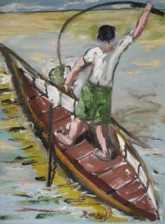 Boy Fishing from a Canoe | Darryl Freeman