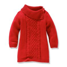 Toddler girl - red sweater dress-- fabulous Christmas outfit idea :)