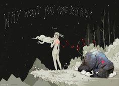 Rabbit Girl and Star Wolf - Chiara Bautista Art And Illustration, Illustrations, Comic Kunst, Comic Art, Chiara Bautista, Bd Comics, Art Design, Art Plastique, Banksy