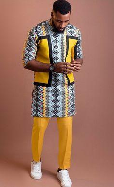 African Dress Styles For Men, Latest African Wear For Men, Latest African Men Fashion, African Shirts For Men, Nigerian Men Fashion, African Attire For Men, African Clothing For Men, African Fashion Ankara, African Print Shirt