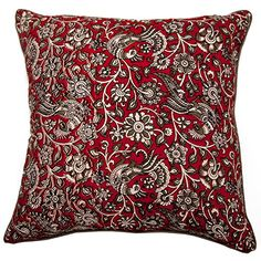 Decorative Indian Hand Made Print Cotton Throw Pillow Covers - 18x18 - Ancient Nature Print - Home Decor - Accent Pillows - Throw Pillows for Couch Veronique Taylor Textiles & Home http://www.amazon.com/dp/B00YK0AM36/ref=cm_sw_r_pi_dp_q3WVvb072GH70
