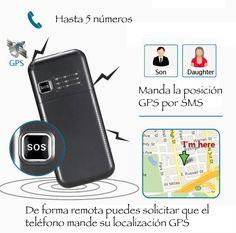 Teléfono móvil Voiis V7G senior con localizador GPS   Blauden Electronics