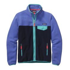 Patagonia Women\'s Full-Zip Snap-T\u00AE Fleece Jacket - Violet Blue VLTB