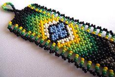 Huichol Beaded Bracelet от Aramara на Etsy