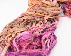 Reclaimed Sari Silk Ribbon: Valley Girl from #DGY
