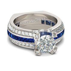 Victoria Wieck Luxury Women Blue Birthstone Zircon Cz Ring 925 Sterling Silver Women Engagement Wedding Band Ring Sz 5-11 Gift
