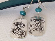 Wild Horse Fine Silver Earrings Horse Jewelry  by WyomingHammered, $48.00