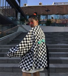 CBYER PUNK CHECKER JACKET sold by neeio. Shop more products from neeio on Storenvy, the home of independent small businesses all over the world. Girl Outfits, Cute Outfits, Fashion Outfits, Jackets For Women, Clothes For Women, Comfortable Fashion, Types Of Fashion Styles, Playing Dress Up, Harajuku
