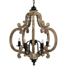 Shop for White Wash and Black Chandelier. Get free delivery On EVERYTHING* Overstock - Your Online Ceiling Lighting Store! Country Chandelier, Hanging Chandelier, Globe Chandelier, 5 Light Chandelier, Iron Chandeliers, Black Lamps, French Country Decorating, Light Fixtures