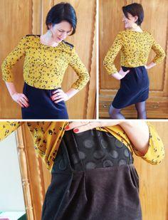 version à épaulettes /  Couture robe Louis Antoinette / Sewing patterns