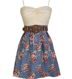 """This dress Cow girl boots and I'm set for summer this would be the only dress i would were i hate dress""""s except for prom"""