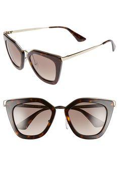 d455fd60b288f Free shipping and returns on Prada 52mm Sunglasses at Nordstrom.com.  Polished metallic trim