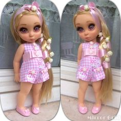 Another adorable short jumpsuit. Disney Baby Dolls, Disney Princess Dolls, Baby Disney, Disney Animators, Disney Animator Doll, Bjd Dolls, Girl Dolls, Dolly Doll, Baby Alive