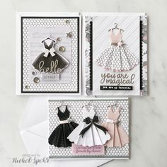 Today I'm sharing 10 cards created with the Spellbinders April 2019 Card Kit of the Month. I love the challenge of creating a set of cards with the amazing Spellbinders Card Kit each month! The April kits are now. Cool Cards, Diy Cards, Handmade Cards, Scrapbook Supplies, Scrapbook Cards, Birthday Wishes Cards, Dress Card, Spellbinders Cards, Marianne Design