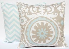 Studio Collection Fabrics / Blue and Taupe fabrics