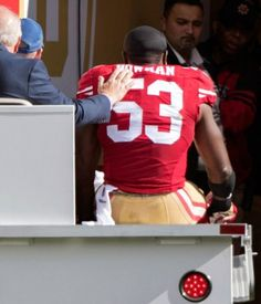 "NaVorro Bowman on if it was an Achilles injury: ""Yeah, it is"""