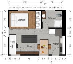 16 ft x 20 ft | tiny house floor plans | pinterest | tiny houses