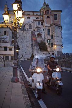 Discover Amalfi by night on board a Vespa