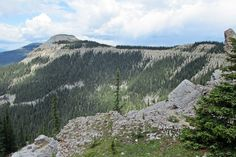 #hiking the summit of Coliseum Mountain above Nordegg, Alberta, Canada