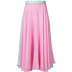 Roksanda long colour block skirt (3,500 CAD) ❤ liked on Polyvore featuring skirts, long skirts, color block skirt, roksanda, pink skirt and colorblock maxi skirt