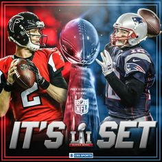 Falcons vs Patriots in Super Bowl LI scheduled for Sunday, Feb. 2017 at NRG Stadium in Houston, Texas, pm ET on FOX Cbs Sports, Boston Sports, Falcons Football, Football Helmets, Football Players, Barack Obama, Lets Go, New England Patriots Merchandise, Softball Jerseys