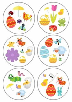 Lente dobble Toddler Activities, Preschool Activities, Teach English To Kids, Printable Games For Kids, Toilet Roll Craft, Scrapbook Images, Kids Workshop, Circle Game, Spring School