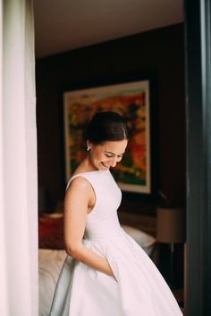 Bride wears Caroline Castigliano Dress With Pockets | Photography by http://www.lawsonphotography.co.uk/