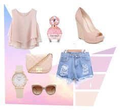 """Pastel Pink"" by katrenn on Polyvore featuring Chicwish, Jessica Simpson, STELLA McCARTNEY, Marc Jacobs and Forever 21"