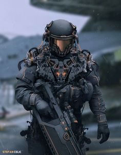 Soldier , Stefan Celic on ArtStation at https://www.artstation.com/artwork/E4xYe
