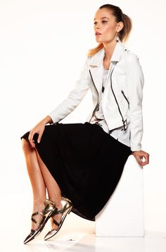A white moto jacket is a spring style essential. #fastfashion