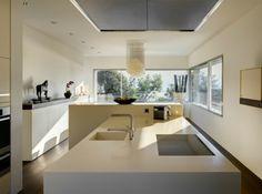 moderne Küche-Einrichtungsideen weiß